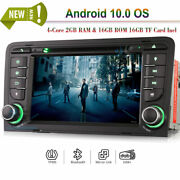 7android 10.0 Dvd Head Unit Dab+bluetooth Radio Gps Sat Navi For Audi A3 Rs3 S3