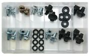 32 Piece Large O.e Style Oil Drain Plug And Gasket Assortment Kit - 11 Sizes