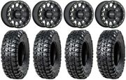 Method 401 15 Bdlk Bk 4+3 Wheels 33 Chicane Rx Tires Pioneer 1000 / Talon