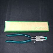 Nos Vintage Diamond Tool And Horseshoe Co Rp8 Breaking Glass Pliers In Box