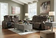 Ashley Furniture Game Zone Power Reclining Sofa And Loveseat