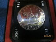 1873-1973 Canada 1 Dollar Rcmp Royal Canadian Mounted Police 50 Silver Coin