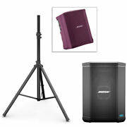 Bose S1 Pro Pa System W/ Speaker Stand And Play-through Cover - Night Orchid Red