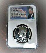 1776-1976 S Ngc Pf68 Cameo Proof Silver Kennedy Half Jfk Coin Signature Lb