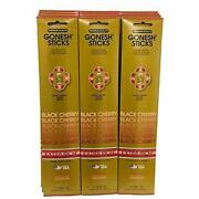 Gonesh Incense Sticks Extra Rich Collectionblack Cherry 12 Pack 20 Sticks/pack