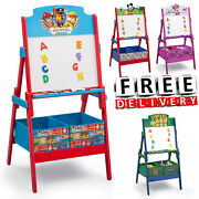 Kid Easel Toy Organizer Shelf Wood Standing Drawing Artist Art Child Painting