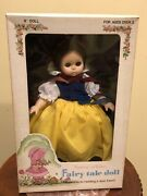 """Vintage 1979 Snow White Fairy Tale Doll 9"""" By Playmates 40yrs Old New In Box"""