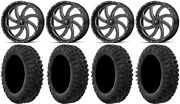 Msa Milled Switch 20 Utv Wheels 33 Motoclaw Tires Polaris Ranger Xp 9/1k