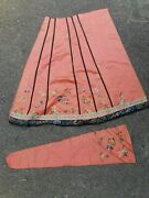 Antique Chinese Pieces Part Of A Skirt Accessory Embroidery Textile