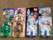 Ty International Beanie Bear Set Of 4 Rare Errors.only Maple Ebay 1/1 Two Color