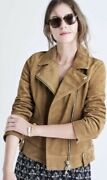Madewell Moto Suede Jacket Tan Womenandrsquos Sz Med Nwot