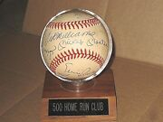 500 Home Run Club Signed Baseball Mickey Mantle Ted Williams