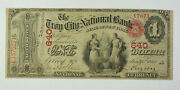 1865 1 One Dollar National Currency Note Bank Troy City New York Ny 640