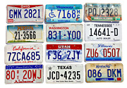 Pack Of 12 Craft Condition License Plates From 12 States For Art Projects