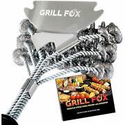 Grill Brush Bbq Cleaner Bristle Free With Scraper-stainless Steel Tool-safe For
