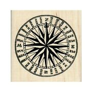 New Rose Compass Rubber Stamp, Compass Stamp, Travel Stamp, Nautical Stamp, Sea