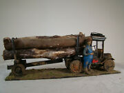 G Scale Logging Truck - Custom Built Weathered With Driver