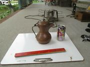 Brass Copper Coffee Pot Dallah 8 Tall Looks To Be Russian