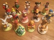 The Disney Collection Porcelain Mini Figurines Set Of 13