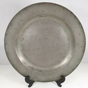 Antique Pewter Charger / Dish /plate 41.5cm Diameter London Touch Marks Maker Gj