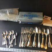 Wwii French Stamped Silverware Set W/ A. Vedel Stamped Knives. Rare Find