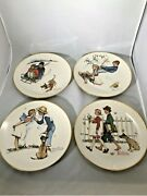 Brand New Norman Rockwell Gorham 1972 Four Seasons Young Love Collector Plates
