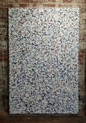 Ellie Riley - Modern Abstract In Multicolors And White - Oil Painting