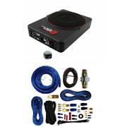 Under Seat 550w Max 10 Powered 2ohm Car Subwoofer Amplifier Installation Kit