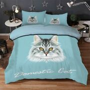 Gray Inlay Cat 3d Printing Duvet Quilt Doona Covers Pillow Case Bedding Sets