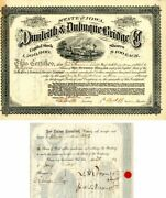 Dunleith And Dubuque Bridge Co. Signed By James A. Roosevelt - Stock Certificate