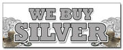 We Buy Silver Decal Sticker Gold Sell Rare Cash Bullion Diamonds Coins
