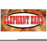 Elephant Ears Concession Decal Signs Fried Elephant Ear Cart Trailer Stand