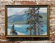 George Browne - Emerald Lake - Expressionist -oil Painting