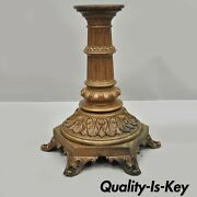 Antique French Victorian Cast Bronze Empire Style 23 Pedestal Table Base
