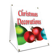 A-frame Sidewalk Sign Christmas Decorations Double Sided Graphics