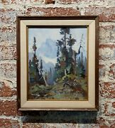George Browne - Mountain Landscape - Expressionist -oil Painting