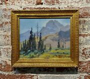 George Browne - Beautiful Mountain Landscape -expressionist -oil Painting