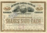 Atchison Topeka And Santa Fe Railroad Company Issued To Mabel G. Bell