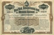 New York Susquehanna And Western Rairoad Company Bond Issued To Charles L. Tiff