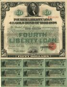 50 Dollar Fourth Liberty Loan Gold Bond Of 1933-1938 - Special Price