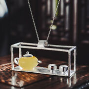 Unique Design Natural Amber Solid 925 Silver Jewelry Teapot Pendant For Women