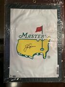 Undated Masters Garden Flag - Signed By Jack Nicklaus Gai Rare Auto Item