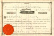 Atchison Topeka And Santa Fe Railroad Company In Chicago - Stock Certificate