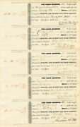 Uncut Sheet Of 5 Mohawk And Hudson Rr Signed By William B. Astor For His Father,