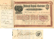 Pittsburgh Virginia And Charleston Railway Company Signed By Andrew W. Mellon
