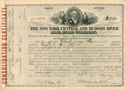 New York Central And Hudson River Railroad Company Signed By Wm. H. Vanderbilt