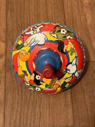 The Ohio Art Co Usa Vintage Toy Metal Spinning Top Children Pony Boy Girl Works