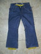 Off The Wall X 7 For All Mankind Woman's Skating Jeans Pants M Meas 31x30