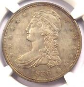 1836 Reeded Edge Capped Bust Half Dollar 50c Coin - Ngc Xf Details - Key Date