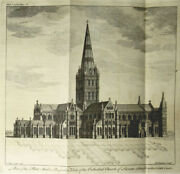 Francis Price Salisbury Cathedral Gothic Architecture 1753 Illustrated Plans